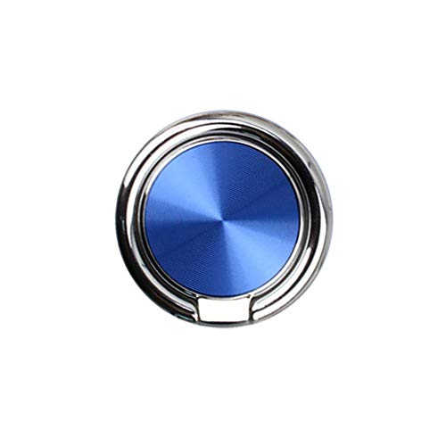 Blau Automatische Vakuum (Nevter359 für iPhone Samsung Huawei Smartphone GPS Geräte Universal Handyhalter, 360 Grad drehen Magnet Finger Grip Ring Ständer Halterung für Samsung iPhone - Blau)