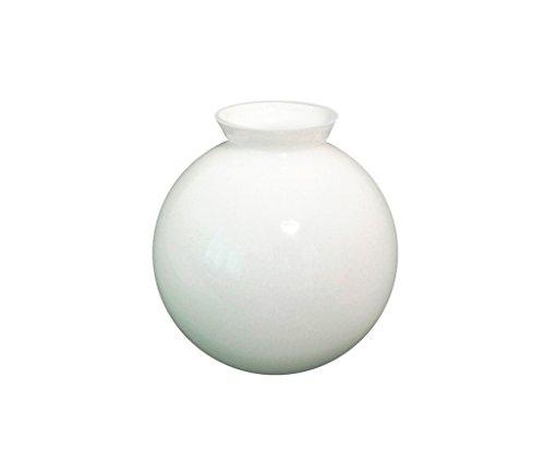 Sostituzione vetro bianco globo paralume per luce ventilatore da soffitto. Diametro esterno della base: 7.6cm. Massimo larghezza: 14.5cm diametro (parte, cappuccio, ricambio, Blyss, sfera, palla, copertura)
