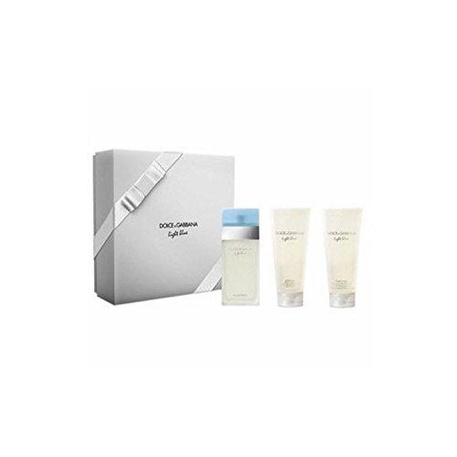 Deodorant Secret Creme (Dolce & Gabbana Light Blue Xmas Set 100ml Eau de Toilette + 100ml Body Lotion + 100ml shower Gel)