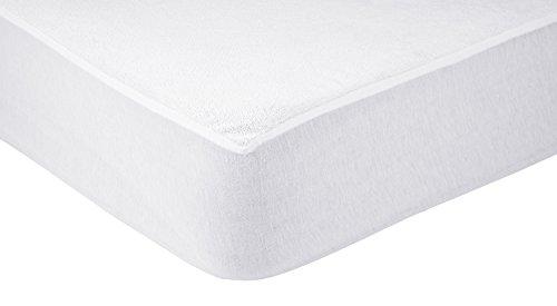 AmazonBasics - Protector de colchón de felpa impermeable 75 x 190 cm