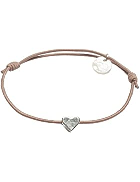 lua accessories Damen Armband Mini Heart silber