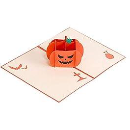 Biglietti D'Auguri Regali Di Halloween Scheda 3D Pop Up CardsWitches Zucca Scheda