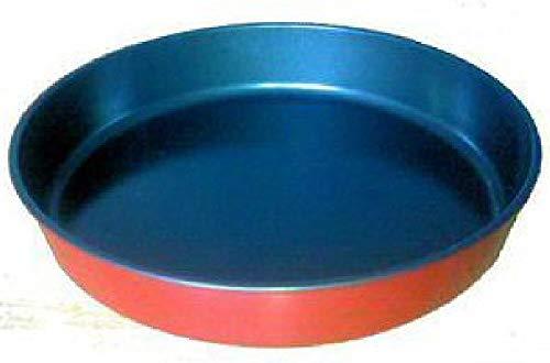 Mikrowellen Pfanne Bräter 30cm Fleisch braten Pizzablech Mikrowellengeschirr Mikrowellentopf ohne Deckel Kochgeschirr Kochtopf (rot)