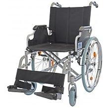Trendmobil TML Leichtgewicht - Rollstuhl Faltrollstuhl Transportrollstuhl Reiserollstuhl mit Steckachsensystem - Sitzbreite 48 cm