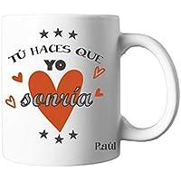 Regalo Original/Taza con Texto Personalizada/Naranja/Pareja/Enamorados/Amigo/Amiga/Hombre/Mujer/Chico/Chica/Novia/Novio/Aniversario/San Valentin/Cumpleaños/Navidad