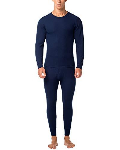 LAPASA Herren Thermounterwäsche - Thermo Oberteile und Unterteile Funktionsunterwäsche Skiunterwäsche für Ski Snowboard Wandern Reisen M60 (L, Navy Blau)
