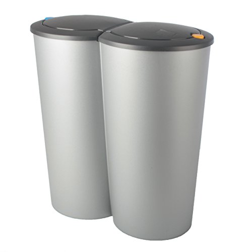 Cubo de basura Duo Bin 2x 25L Cubo de basura doble cubo de basura basura de basura coleccionistas ts127