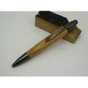 Kugelschreiber aus Whisky Fass Eiche Holz handgedrechselt Edelholz
