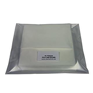 YACHTICON 10 hochwertige Viskose Politurtücher reinigen mit besten Tücher und Lappen. Weiß, lösungsmittelbeständig, saugstark, fusselfrei, saugstark, mehrfach verwendbar, Pflegetuch: 38 x 35 cm