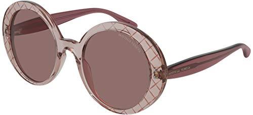 Bottega veneta occhiali da sole bv0197s pink/pink 53/23/140 donna