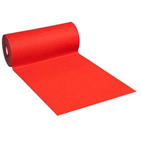 Alfombra color rojo con reverso antideslizante