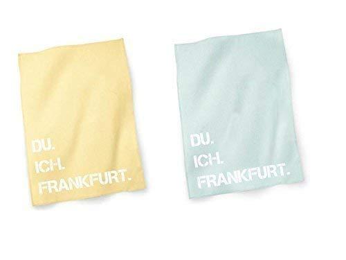 DU. ICH. FRANKFURT. Geschirrtuch Handtuch Küche Geschenkidee Ostern Einzug Geburtstag