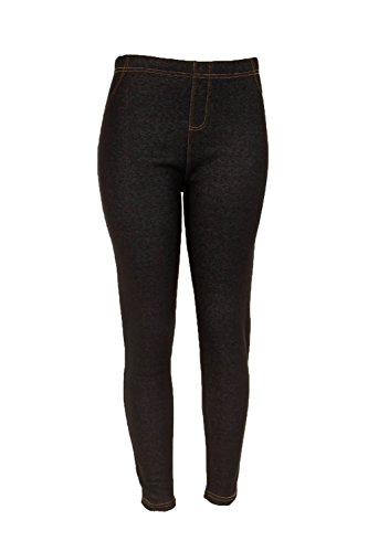 bf58e15c1fcf15 ShoSho Women's Plus Size Fur Lined Jeggings - XL Black