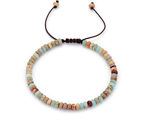 ShAwng Einzigartige scheibenform naturstein String einstellbar Armband großhandel perlen Schnur Freundschaft Armband großhandel