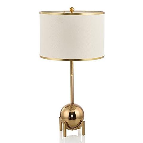 PinWei_ American simple design ideas bedroom bedside bronze table lamp 380*630mm