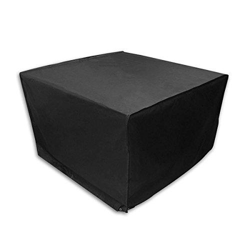 Homfa Cubierta Impermeable para Muebles Fundas Protectora para Muebles Sillas Sofás Mesas Cubierta de Exterior Color Negro 120x 120x 74cm