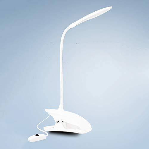 ZUEN LED-Tischlampen für die Studie Power by USB Led Desk Lampenampen-Studie Licht flexibel Clip auf der Lesen Schreibtisch Lampe