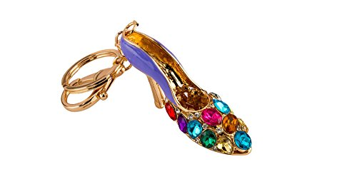 Avaron Projekt Blue Footwear With Multi Colours Stones And Swarovski Detailing Handbag Charm Key Chain / Purse Charm For Women