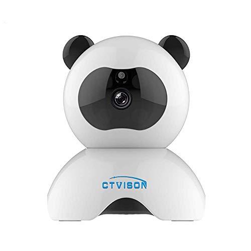 Seguridad para el Hogar Cámara Inalámbrica,CTVISON 1080P HD WiFi Cámara IP Vigilancia en Interiores Cámara de Seguridad con Visión Nocturna,Soporte Tarjeta Micro SD de 64GB para Bebé/Anciano/Mascota