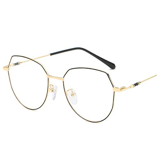 Yiph-Sunglass Sonnenbrillen Mode Blaulicht-Rahmen-allgemeine Computerschutzbrillen-Männer und Frauen (Farbe : Gold, Größe : Free Size)
