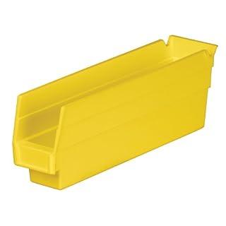 Akro-Mils 30110 12-Inch by 2.75-Inch by 4-Inch Plastic Nesting Shelf Bin Box, Yellow, Case of 24