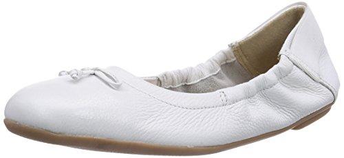 Caprice - 22163, Ballerine Donna Bianco (Weiß (WHITE/100))