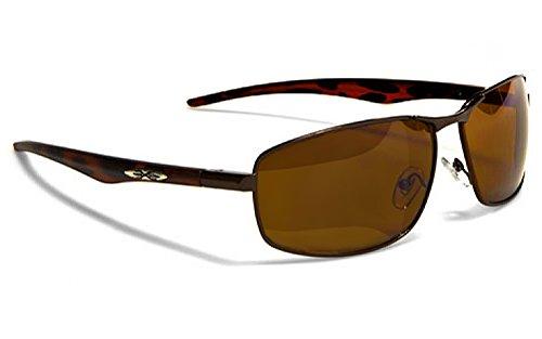 X-Loop Lunettes de Soleil Aviator - Mode - Fashion - Conduite - Moto - Ski - Tennis - Conduite - Plage / Mod. 042P Cuivre Bru