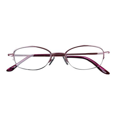 Deylaying Gafas de lectura Moda Vintage Rosado Metal Marco Resina Lentes para leer Mujer Graduación +0.5 +0.75 +1.0 +1.5 +2.0 +2.5 +3.0 +3.5 +4.0