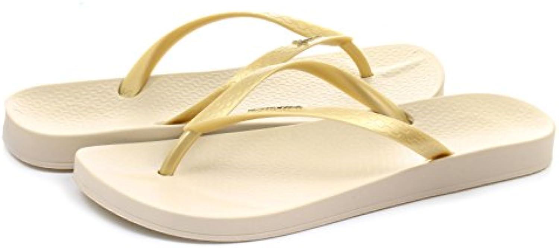 Men/Women Ipanema Women's Thong Sandals Beige Gold/Beige Elegant shape shape shape Let our products go to the world Fair price 554410