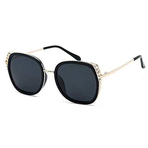 Yiph-Sunglass Sonnenbrillen Mode Sonnenbrille 5 Farben Frauen Cat Eye Sommer Männer Polarisierte Sport Sonnenbrille Outdoor Driving Reise Goggles (Farbe : Schwarz, Größe : Free)