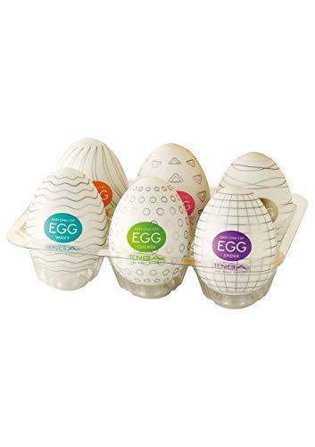 WSQIWNI Egg Variety, White, Pack of 6 (tenga 01)