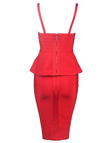 meilun - Robe - Moulante - Sans Manche - Femme red