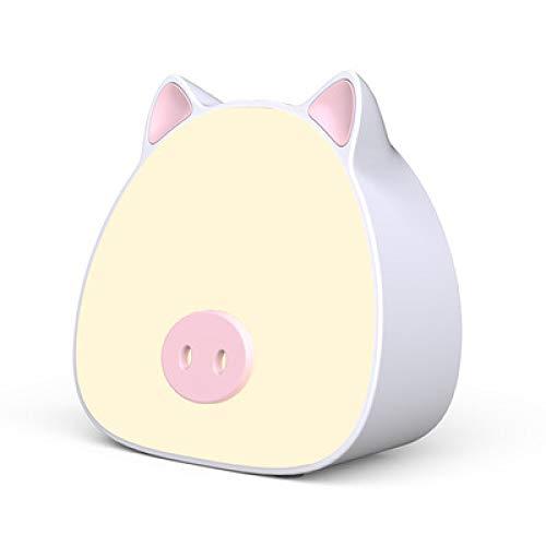 Augenschutz Schreibtischlampe Schreibtischlampe LED Cartoon Schwein Kind zusammen mit dem Bett Lernen, Nachtlicht Modern 112 * 54 * 109mm weiß -