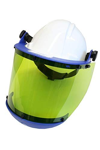 National Safety Apparel H50HAT12CALCAFS High VLT Anti-Fog Faceshield with Slotted Hard Hat and Chin Guard, One Size by National Safety Apparel Inc National Guard Hat