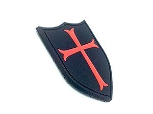 Crusader Croix Noire PVC Airsoft Velcro Patch