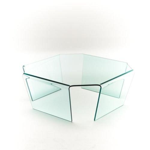 Group Design Couchtisch Malibu Glas transparent ottagonano Spinne VT002 - Malibu Glas Tisch