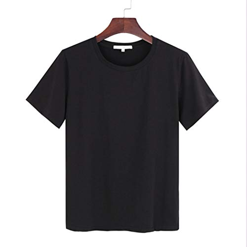 Frauen LöSen Art-T-Shirt Sommer-Baumwollfestes O Ansatz-Kurzes BeiläUfiges Bequemes Weibliches Kurzes HüLsen-Oberseite -