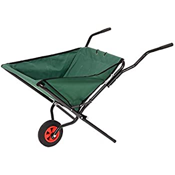 Polyester 30 X Relaxdays Folding Wheelbarrow 90 L Large Up To 30 Kg Steel