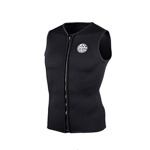 SLINX 5mm Neopren Tauchen Neoprenanzug Jacke für Frauen Damen Herren Windsurfen Bademode (Schwarz, Small)