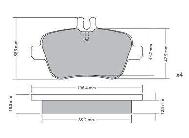 Metzger bremsbelã ¤ ge