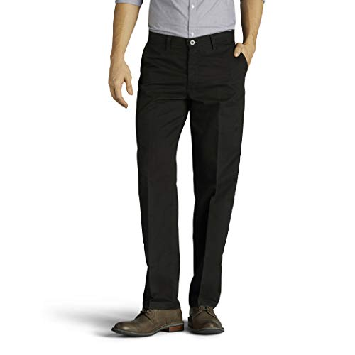Lee Herren Big & Tall Total Freedom Stretch Relaxed Fit Flat Front Pant Unterhose, schwarz, 50W / 32L Relaxed Fit Flat-front-hose
