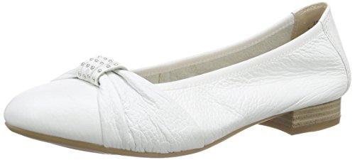 Caprice 22156, Damen Geschlossene Ballerinas, Weiß (WHITE 100), 38.5 EU