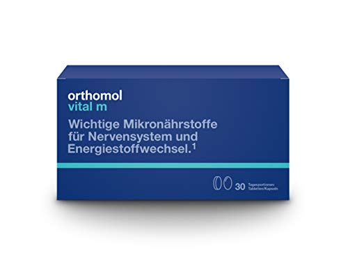 Orthomol vital m 30er Tabletten & Kapseln - Vitamine bei Müdigkeit & Erschöpfung - Nahrungsergänzungsmittel für Männer