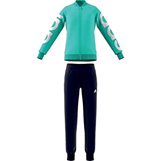 adidas Mädchen YG PES TS Trainingsanzug, Mädchen, DI0164_116 (5/6 años), grün (Clear Mint) / weiß, 116 (5/6 años)