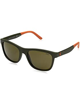 Polo Ralph Lauren 0PH4120, Gafas de Sol para Hombre, Matte Olive, 55