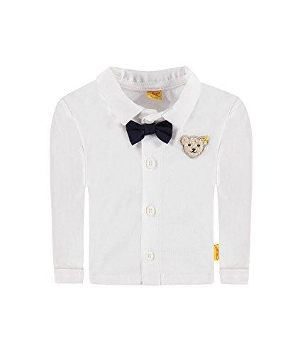 Steiff Baby Jungen Kragen Hemd mit Fliege Special Day 6642823 weiß, gr. 68