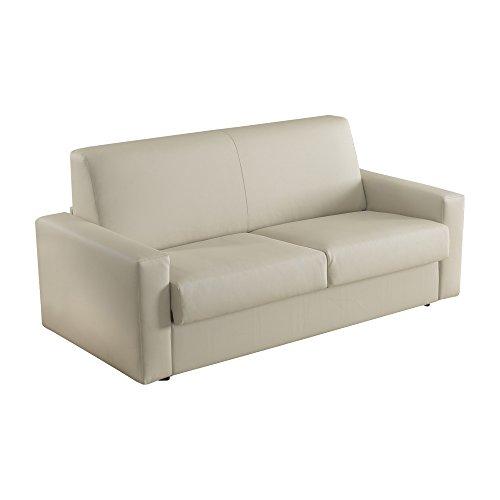 Casarreda store divano letto 3 posti trasformabile mod. elisa in ecopelle beige