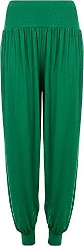 Ladies Plus Size Harem Trousers Womens Full Leggings Stretch Pants