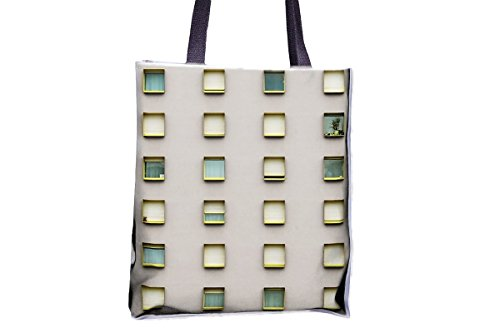 Windows, Building, Pattern, Modern allover printed totes, popular totes, popular womens' tote bags, professional tote bag, large professional tote bags, best tote bags, best large tote bags (Professional Tote Pattern)