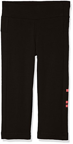 87f718b9387 adidas Girls' Essentials 3/4 Linear Tights, Black/Real Pink/White, 12-13  Years